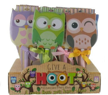Ddi Owl Notepad and Pen Set Case Of 72