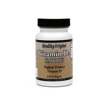 Healthy Origins Vitamin D3, 5000 IU, Softgels 120 ea