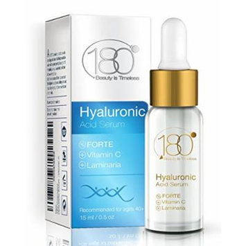 180 Cosmetics Hyaluronic Acid Forte with Vitamin C Anti Aging Serum, 0.5 oz / 15 ml