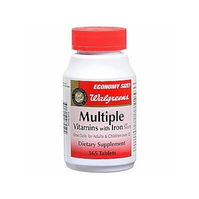 Walgreens Multiple Vitamins with Iron Dietary Supplement Tablets 365 ea