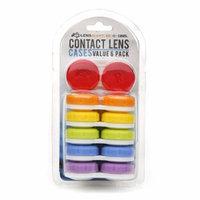 LensAlert Contact Lens Cases Value 6 Pack, 1 set