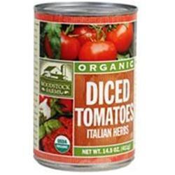 Woodstock Farms Woodstock Diced Italian Tomatoes 14.5 Oz -Pack of 12