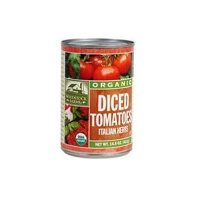 Woodstock Farms Woodstock Diced Italian Tomatoes 14.5 Oz -Pack of 12