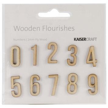 Kaisercraft Wood Flourishes, Numbers