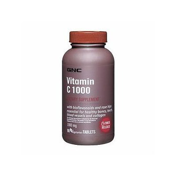 GNC Vitamin C 1000 with Bioflavonoids and Rose Hips, Tablets 360 ea