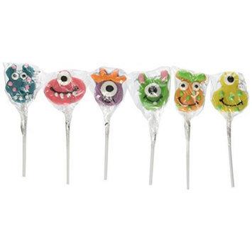 Fun Express BB017396 Monster Lollipop - 12-Pack