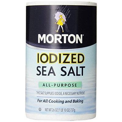 Morton All-Purpose Iodized Sea Salt, 26 Ounce (Pack of 12)