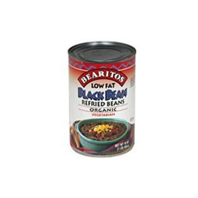 Little Bear Organics 50528 Organic Black Refried Beans Low Fat