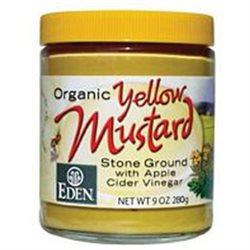EDEN FOODS Organic Yellow Mustard Glass 9 OZ