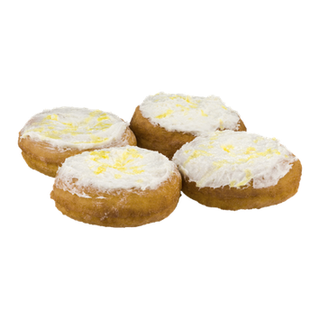 Morkes Donuts Lemon Cake Donuts With Cream Cheese Topping - 4 CT