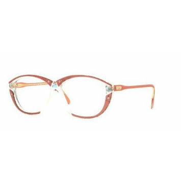 Cazal 313 632 Clear and Pink Authentic Women Vintage Eyeglasses Frame