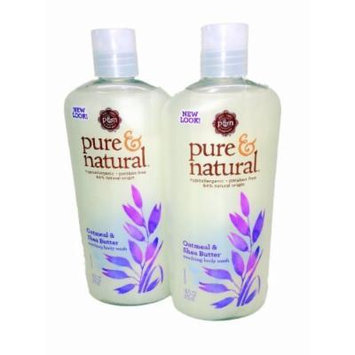 Pure & Natural Body Wash Soothing Oatmeal & Shea Butter 16 fl oz (2 Pack)