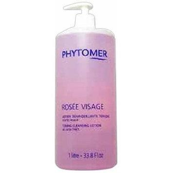 PHYTOMER Rosee Visage Toning Cleansing Lotion Rose Professional size 1 liter 33.8 oz (Huge, BIGGER Size)