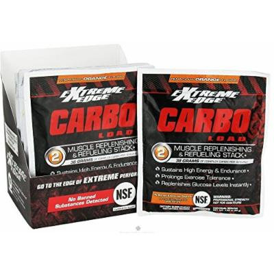 BlueBonnet Extreme Edge Carbo Load Powder, Tenacious Orange, 7 Count