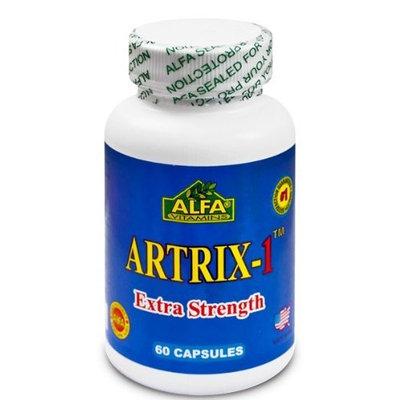 Alfa Vitamins Artrix-1 Extra Strength 60 Capsules - Glucosamine - Chondroitin - MSM - Boswellia Serrata - Help for Joint Health