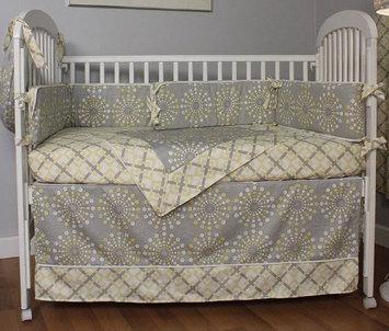 Hoohobbers Burst Sterling 4 Piece Crib Bedding Set