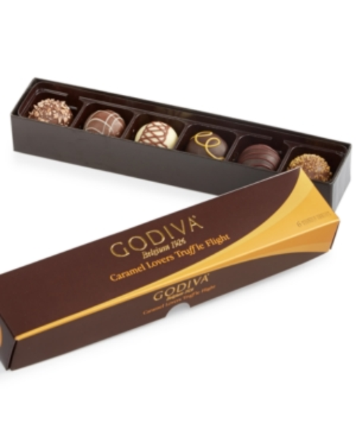 Godiva 6-Pc Caramel Lovers Truffle Flight