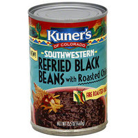 Kuner's Of Colorado Southwestern Refried Black Beans With Roasted Chiles