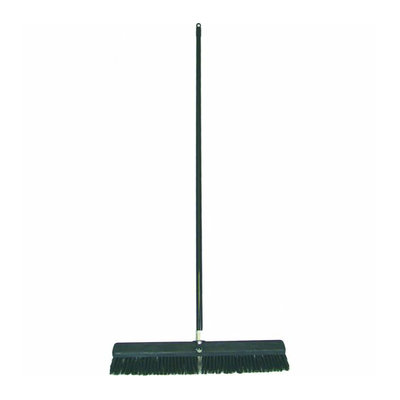 Birdwell Cleaning 4027 Hard Poly Push Broom With Handle