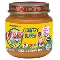 EARTHS BEST Organic Chicken & Brown Rice Dinner 4 OZ