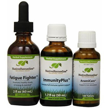 Native Remedies Anemicare; Fatigue Fighter And Immunityplus Ultrapack (one Of Each), 0.8 Units