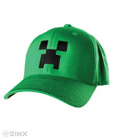 Jinx Minecraft Creeper Flexfit Hat - Large to Xlarge