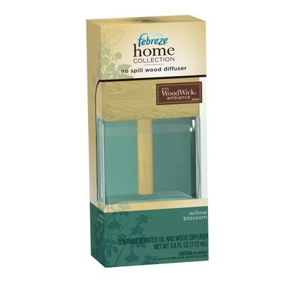Febreze Home Collection No Spill Wood Diffuser Willow Blossom Scent, 3.8-Ounce