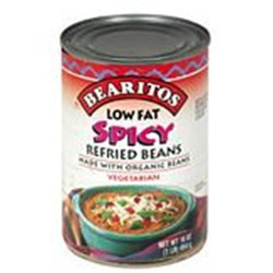 Little Bear Organics 50526 Organic Pinto Spicy Refried Beans