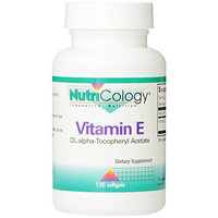 Nutricology Vitamin E, 400 Iu, Softgels, 120-Count