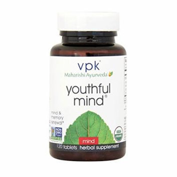 Certified Organic Youthful Mind , Sharpen Short & Long-Term Memory , 120 Herbal Tablets , Support for Learning, Memory & Recall