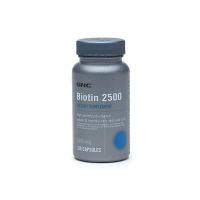 GNC Biotin 2500, Capsules, 120 ea Single or Multi Packs (Two Bottles each of 120 Capsules)