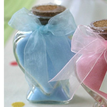 Kateaspen Scented Bath Salts In Heart Glass Bottle - Blue