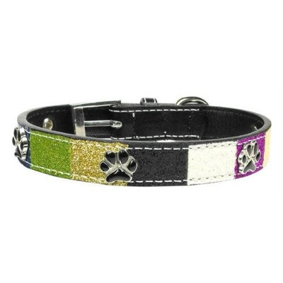 Mirage Pet Products 100015 SMBL Ice Cream Collars Blue Paws Small