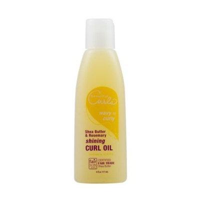 Alaffia- Beautiful Curls- Shea Butter & Rosemary Shining Curl Oil- 4 oz