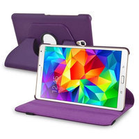 Insten INSTEN Purple Leather Case 360 Degree Rotating Stand Cover For Samsung Galaxy Tab S 8.4 inch Tablet T700