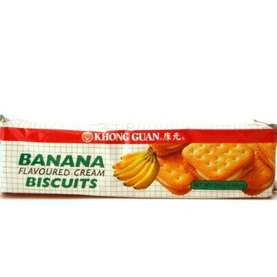 Khong Guan Banana Cream Biscuits - 7.05oz (Pack of 6)