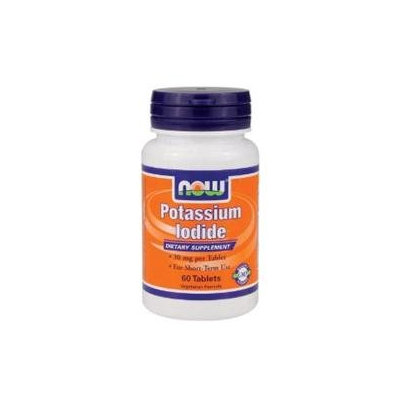 NOW Foods - Potassium Iodide 30 mg. - 60 Vegetarian Tablets
