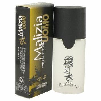 Malizia Uomo Gold for Men by Vetyver EDT Spray 1.7 oz