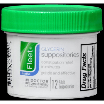 FLEET GLYCERIN SUPPOSITORIES ADULT 12'S