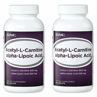GNC Acetyl-l-carnitine Alpha Lipoic Acid 60 Tablets Single or Double Packs (Two Bottles each of 60 Caplets)