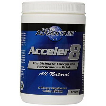 Pure Advantage Acceler8 Nutritional Supplements, Grape, 1.2 Pound