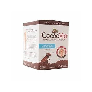 CocoaVia Cocoa Extract Dark Chocolate Drink Mix, Unsweetened 30 ea