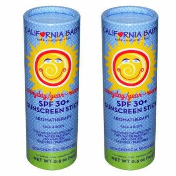 California Baby Everyday Year-Round SPF 30+ Sunscreen Stick - 0.5 oz. - 2 Pack