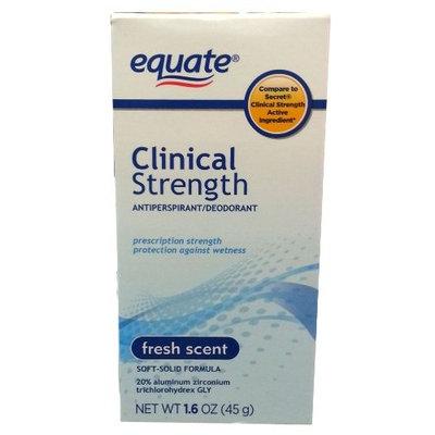 Equate Clinical Strength Antiperspirant Deodorant, Fresh Scent, 1.6oz, Compare to Secret Clinical Strength Active Ingredient