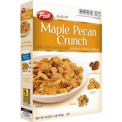 Selects Post Maple Pecan Crunch Whole Grain Cereal, 16-Ounce Box (Pack of 7)