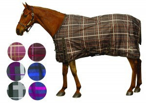 Pessoa Alpine Turnout Sheet 74 Black/Clay Plaid