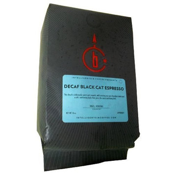 Intelligentsia Decaf Black Cat Espresso, Water-Processed, Whole Bean Coffee, 12-Ounce