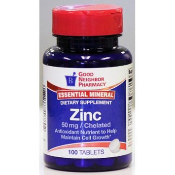 GNP Essential Mineral Zinc 50mg 100 Tablets Dietary Supplement