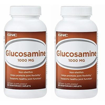 GNC Glucosamine 1000 90 Tablets Single & Double Packs (Two Bottles each of 90 Tablets)