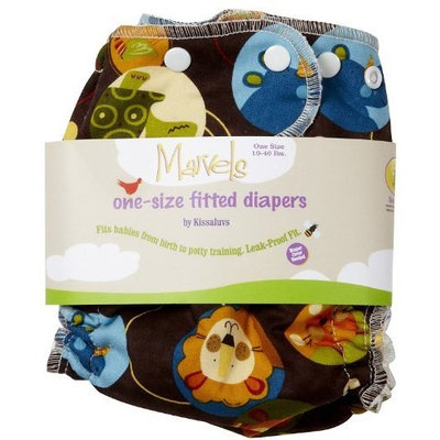 Kissaluvs Marvels One Size Fitted Cloth Diaper-Safari